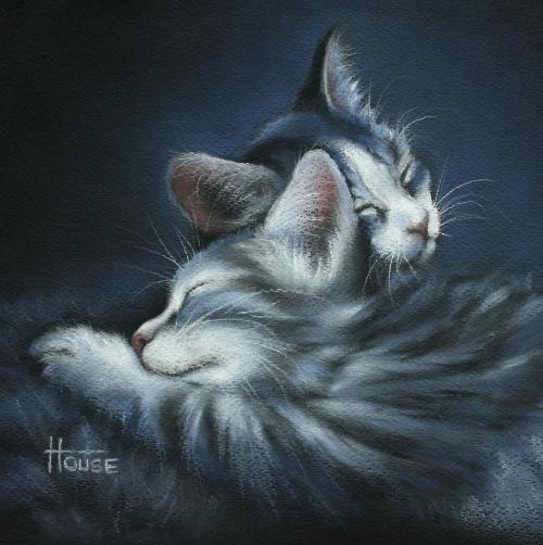 'Sweet Dreams' 2011 pastel 20.5 x 20.5