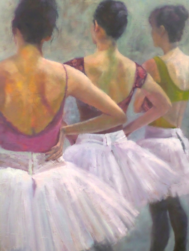 """""""Watching II"""" Oil on Canvas, 40"""" x 30"""" by artist Carol MacConnell. See her portfolio by visiting www.ArtsyShark.com"""