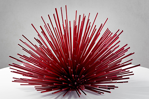 """""""Street Urchin"""" Powder-Coated Steel, 13"""" x 19"""" x 19"""" by artist Kevin Caron. See his portfolio by visiting www.ArtsyShark.com"""