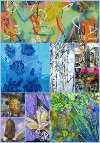 Artsy Shark Gallery artist collage. See their work at www.ArtsySharkGallery.com
