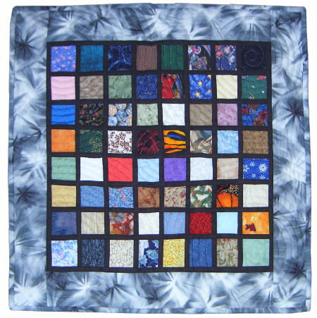 handmade quilt of stained glass