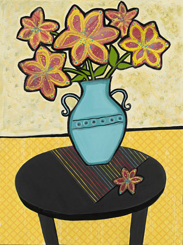 whimsical flowers in vase