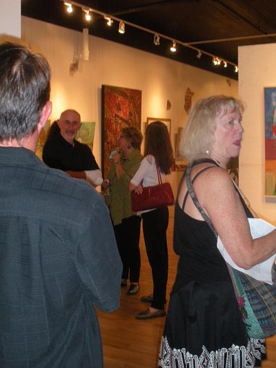 people at an art gallery