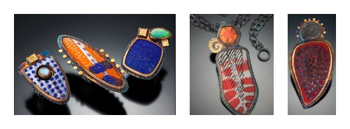 Jewelry by artist Julie Shaw
