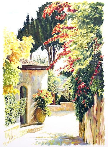 """Autumn Light""  Watercolor on Arches paper, 57 x 76 cm"
