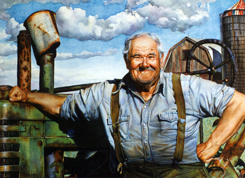 Portrait of an AmericanFarmer