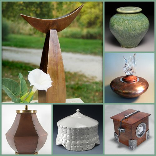 A variety of handmade urns in various materials is available today. Photo: courtesy Artisurn