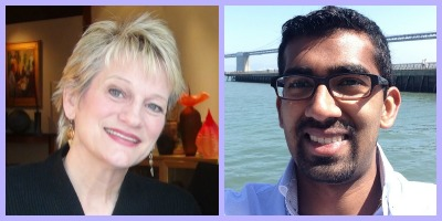 Carolyn Edlund, founder of Artsy Shark, and Ashwin Muthiah of Easely