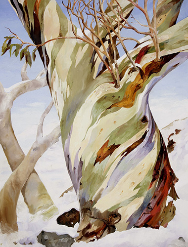 """""""New Shoots from Old Growth""""  oil on canvas, 90cm x 120cm"""