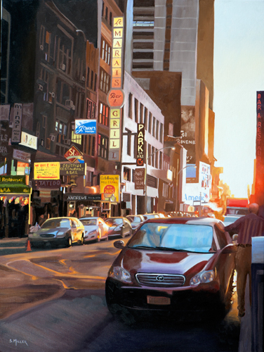 """46th Street"" Oil on Canvas, 18"" x 24"" by artist Sue Miller. See her portfolio by visiting www.ArtsyShark.com"