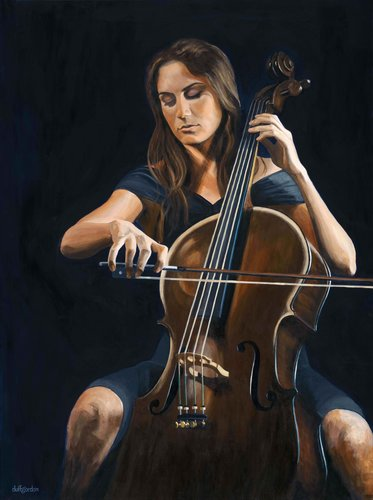 """Glissando"" Acrylic on Canvas, 48"" x 36"" by artist Clive Duff Gordon. See his portfolio by visiting www.ArtsyShark.com"