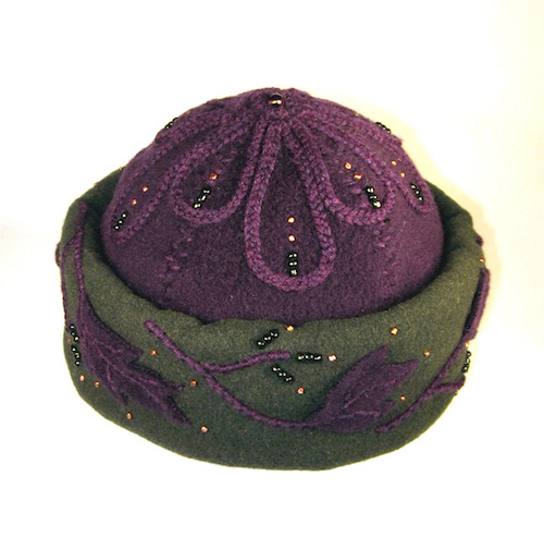 "Handmade hat by Heather Daveno. She is included in ""The Art of Color & Texture"" at www.ArtsyShark.com"