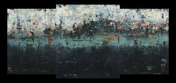 """""""View From Across the Lake"""" Acrylic, 36"""" x 79"""" by artist Patricia Oblack. See her portfolio at www.ArtsyShark.com"""