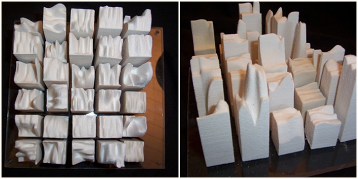 3D printed sculptural pieces by artist Elvira Dayel. See the article at www.ArtsyShark.com