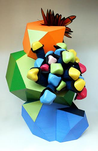 Sculpture by Leisa Rich using 3D printing. Read about this at www.ArtsyShark.com