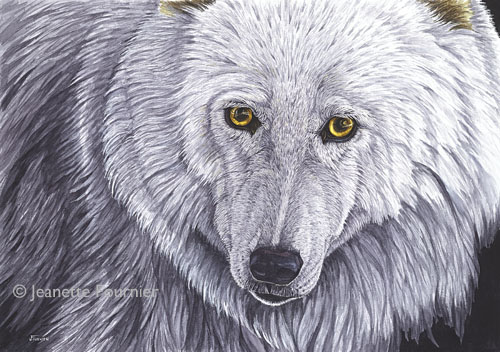 """The Wild Within"" Watercolor, 21"" x 14"" by artist Jeanette Fournier. See her portfolio by visiting www.ArtsyShark.com"