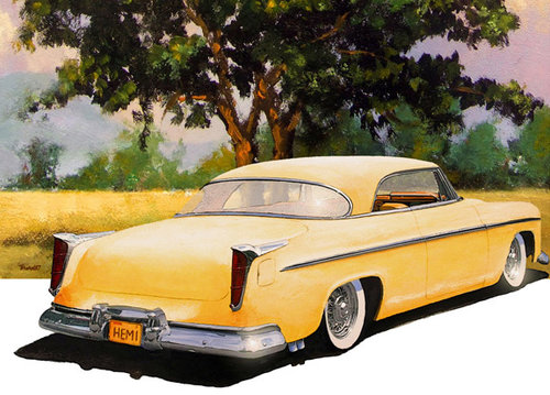 """Chrysler"" Acrylic and digital image, 12"" x 10"" by Geoff Thornley. See his feature at www.ArtsyShark.com"