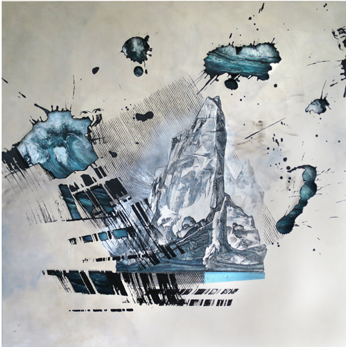 """Composition with Iceberg"" by artist Antar Dayal. Read his story at www.ArtsyShark.com"