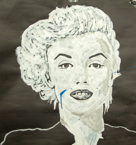 Marilyn portrait by Gabino Martinez, produced in a speed painting session.