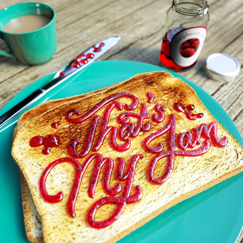"""That's My Jam"" 3D typography by Noah Camp. See more at www.ArtsyShark.com"