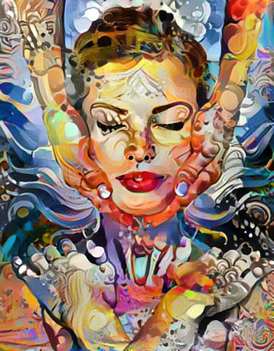 """Elevation of the Soul"" mixed media, 30"" x 23.5"" by Paul Meillon. See his artist feature at www.ArtsyShark.com"