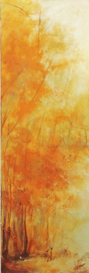 """Summer Breeze"" Acrylic on Canvas, 12"" x 36"" by artist Anahid Minatsaghanian. See her portfolio by visiting www.ArtsyShark.com"