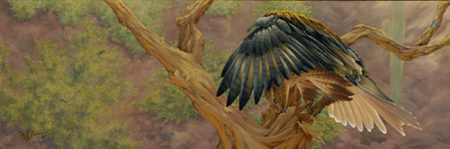 """Hidden Treasure"" Oil on Canvas, 10"" x 30"" by artist Muriel Timmons. See her portfolio by visiting www.ArtsyShark.com"