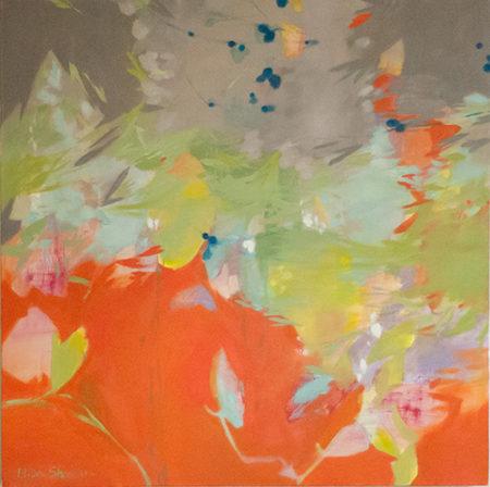 """Orange Crush I"" Oil on Canvas, 30"" x 30"" by artist Elisa Sheehan. See her portfolio by visiting www.ArtsyShark.com"