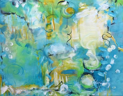 Artwork by Arlene Holtz. See her painting in the photo article Energized Abstracts.