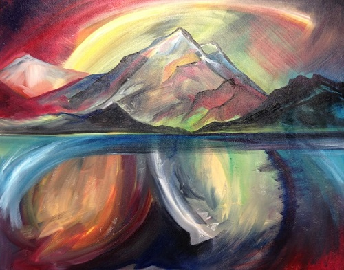 """""""Infinite"""" Oil on Canvas, 30"""" x 24"""" by artist Allison McGree. See her portfolio by visiting www.ArtsyShark.com"""