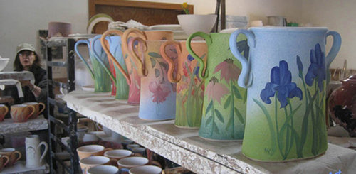 Studio Shot Linden Hills Pottery. Read their story at www.ArtsyShark.com