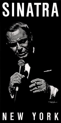 """Sinatra (THE CHAIRMAN OF THE BOARD)"" Acrylic on Aluminum, 2' x 4'by artist Dan Menta. See his portfolio by visiting www.ArtsyShark.com"
