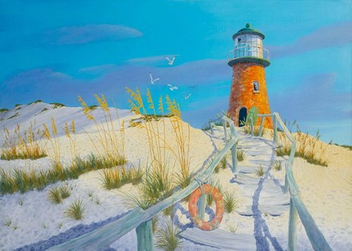 """Sands End"" Acrylic on Panel, 48"" x 32"" by artist Richard Shaffett. See his portfolio by visiting www.ArtsyShark.com"
