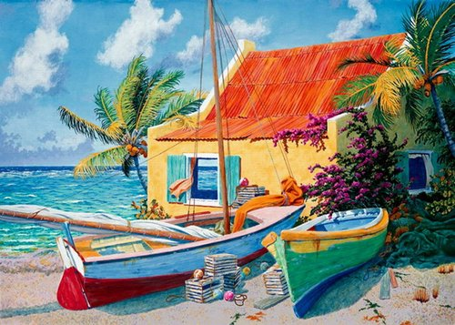 """Windy Day"" Acrylic on Panel, 48"" x 32"" by artist Richard Shaffett. See his portfolio by visiting www.ArtsyShark.com"