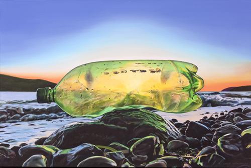"""""""Stranded Vessel"""" Oil on Canvas, 36"""" x 24""""by artist Karen Hackenberg. See her portfolio by visiting www.ArtsyShark.com"""