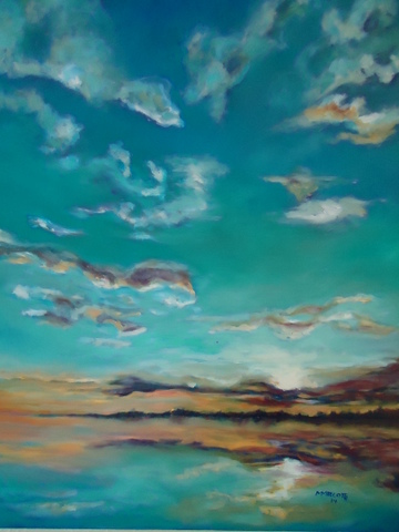 Artwork by Michelle Marcotte - October Skyscape 24 x 30 Oil on Canvas