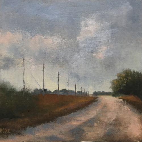 """Oh Happy Gray"" Oil, 12"" x 12""by artist Beth Cole. See her portfolio by visiting www.ArtsyShark.com"