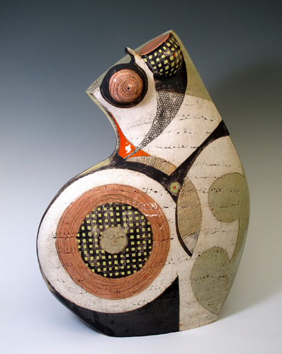 """Pear Shaped Woman"" Ceramic, 21"" x 25"" x 7"" by artist Sheryl Zacharia. See her portfolio by visiting www.ArtsyShark.com"