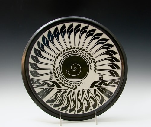 """Eclipse"" Porcelain, 15""w x 4""d by artist Linda Chapman. See her portfolio by visiting www.ArtsyShark.com"
