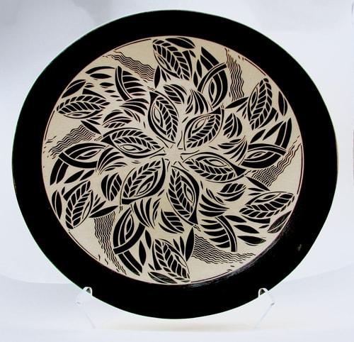 """Spinner"" Porcelain, 20""w x 3""d by artist Linda Chapman. See her portfolio by visiting www.ArtsyShark.com"