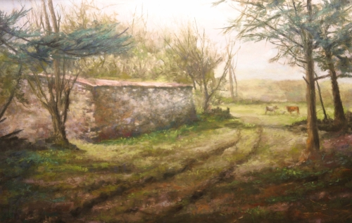 """Cuddy Farm"" Soft Pastel, 20"" x 14"" by artist Bob Palmerton. See his portfolio by visiting www.ArtsyShark.com"