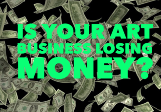 Is your art business losing money? Read about it at www.Artsyshark.com