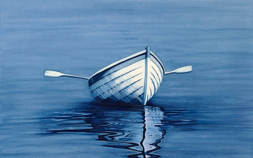 """Navy Blues"" Water Color, 28"" x 18"" by artist Colleen Nash Becht. See her portfolio by visiting www.ArtsyShark.com"