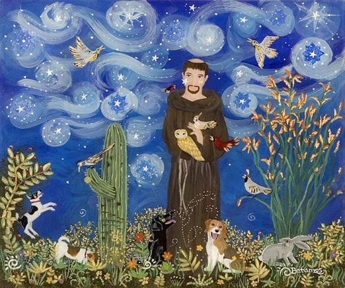 """St. Francis"" by Sue Betanzos. See her portfolio by visiting www.ArtsyShark.com"