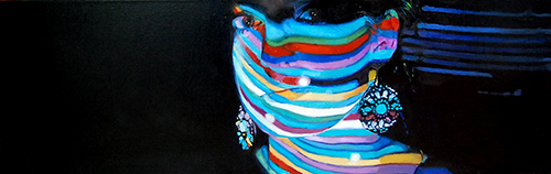 """Skinny Lumens"" Oil on Canvas, 24"" x 8""by artist Ashley Cassens. See her portfolio by visiting www.ArtsyShark.com"