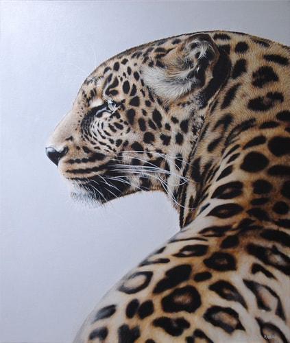"""Leopard Spots"" Acrylic on Canvas, 71cm x 81cm by artist Carla Grace. See her portfolio by visiting www.ArtsyShark.com"