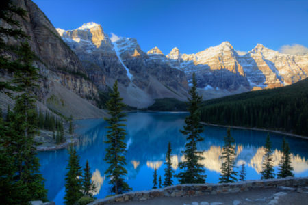 """Moraine Lake, Banff National Park, Alberta, Canada"" Photography, Various Sizes by artist Wayne Moran. See his portfolio by visiting www.ArtsyShark.com"