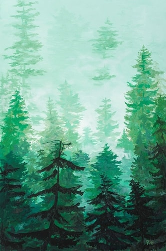 """Forest Mystic"" Acrylic, 24"" x 36"" by Peter Van Giesen. See his portfolio by visiting www.ArtsyShark.com"