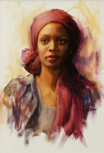 """Ebony"" Oil, 14"" x 21"" by artist Suellen McCrary. See her portfolio by visiting www.ArtsyShark.com"