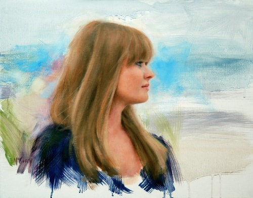 """Sea Breeze"" Oil, 18"" x 14"" by artist Suellen McCrary. See her portfolio by visiting www.ArtsyShark.com"